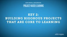 """Need tips for developing PBL lessons that challenge your students while aligning to core learning goals? Part of the """"Five Keys to Rigorous Project-Based Learning"""" video series. Core Learning, Problem Based Learning, Inquiry Based Learning, Learning Methods, Learning Goals, Project Based Learning, Early Learning, Gifted Education, Early Education"""