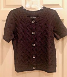 Calvin Klein Jeans Sweater Dress Purple V-Neck Short sleeve Size ...