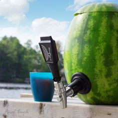 Our Watermelon Keg Tapping Kit will liven up any party. By scooping out a watermelon you can transform a beacon of summer into practical and fun drinks dispenser. Instructions are included, simply purchase a large fruit of choice and transform it into a n Fruity Cocktails, Fun Drinks, Perfect Gift For Dad, Gifts For Dad, Watermelon Keg, Keg Tap, Knife Block Set, Drink Dispenser, Drink