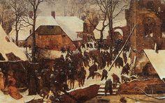 Pieter Bruegel the Elder ca. 1520 – 1569     The Adoration of the Magi in the snow     tempera on panel (35 × 55 cm) — 1567
