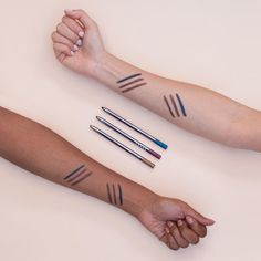 LORAC Take Me to TANtego Front of the Line PRO Eye Pencil Set featuring Antique Gold, Rose Bronze and Teal, photos, swatches, summer 2016 makeup collection Makeup Haul, Makeup Collection, Take My, Antique Gold, Swatch, Teal, Pencil, Bronze, Eyes