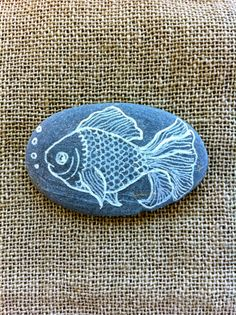 Fish Painted Pebble by MagaMerlina on Etsy, $10.00