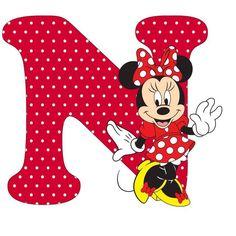 Resultado de imagen para letra N de minnie mouse para imprimir
