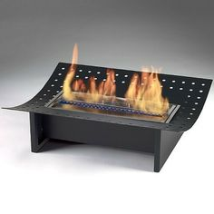 Eco-Feu XL Ethanol Insert for Traditional Fireplaces - Matte Black (FS-00054-MB)