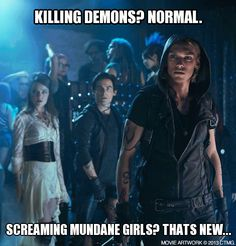 Create your own memes and share with fellow Shadowhunters! The Mortal Instruments City of Bones in theaters August 23. http://www.MortalMemes.com/