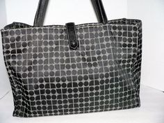 KATE SPADE NEW YORK DOT SIGNATURE GRAY BLACK LEATHER STRAP TOTE HANDBAG #katespade #TotesShoppers