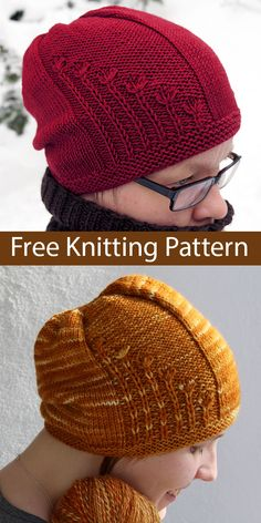 Free Knitting Pattern for Easy Xeranthemum Hat Free Knitting Pattern for Easy Xeranthemum Hat - Slightly slouchy beanie with flowering plants along the side. Knitting Blogs, Baby Hats Knitting, Loom Knitting, Knitting Patterns Free, Free Knitting, Knitted Hats, Knit Headband Pattern, Knitted Headband, Knit Crochet