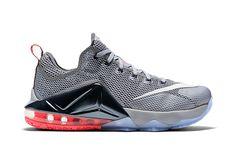Nike LeBron 12 Low Wolf Grey Black-Hot Lava 718addc4666e