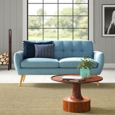 Zipcode Design Erinn Loveseat Upholstery Color: B Modern Sofa, All Modern, Modern Contemporary, Modern Living, Sofa Furniture, Living Room Furniture, Modern Furniture, Furniture Shopping, Coaster Furniture