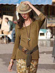 Uta Raasch - Summer knit jumper - olive