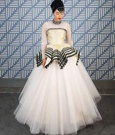 African Traditional Wedding Dress, Traditional Outfits, African Print Wedding Dress, Xhosa Attire, Monochrome Weddings, Church Fashion, Wedding Styles, Wedding Ideas, Wedding Inspiration