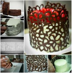 Chocolate Spiral Cage Cake