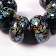 Lampwork Beads  Enigma   bbglassart boro glass beads by bbglassart, $27.99