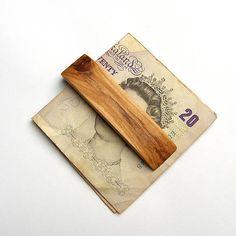 wlkr / Drevené spony na peniaze / Drevená spona na peniaze - topoľová Money Clip, Money Clips