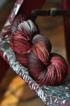 Malabrigo Yarn Sock - I love this yarn and all the malabrigo yarns. Great picture, too!