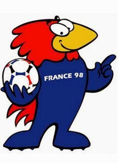 créer une mascotte - creads Mascotte Coupe du monde France 98 - Footix