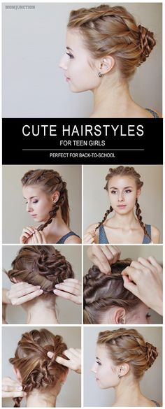 10 Cute And Easy Teenage Girl Hairstyles For School Teenage Hairstyles For School, Cute Hairstyles For Teens, Cute Haircuts, Teen Hairstyles, Little Girl Hairstyles, Mermaid Hairstyles, Simple Hairstyles, Girl Haircuts, Dread Hairstyles