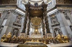 Baldacchino di San Pietro - Saint Peter's Baldachin in same named Basilica in the Vatican City. Giovanni Lorenzo Bernini was the most famous sculptor of classic baroque style, you'll hear about him, i promise.