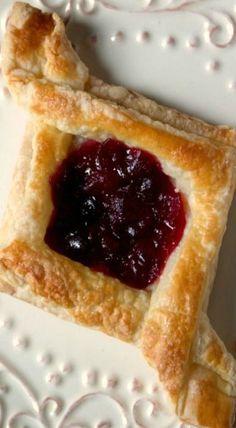 cranberry jam pastry