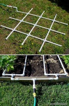 PVC pipes are sturdy and waterproof and most importantly CHEAP. There are so many functional ways to use them in the garden for DIY purposes. Check out these DIY PVC PIPES projects! #GardeningIdeas