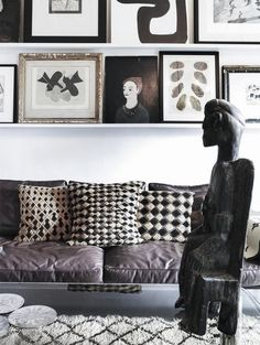 Sharing with you a great book as a source of inspiration on a great work- and lifestyle; Move and Work by self-proclaimed nomad and designer Malene Birger. Interior Exterior, Home Interior Design, Interior Decorating, Interior Modern, Black And White Theme, Black And White Interior, Black White, Malene Birger, Living Room Interior