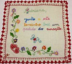 LN48_20X20CM_1 Hand Embroidery, Needlework, Arts And Crafts, Bullet Journal, Quilts, Crop Circles, Minho, Portugal, Simple Embroidery