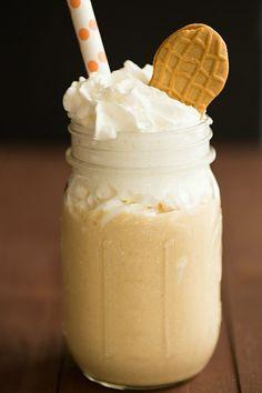 Fluffernutter Milkshake | browneyedbaker.com #recipe