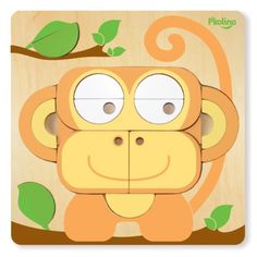 P'Kolino Multi Solution Shape Puzzle Monkey £18.99http://www.cruxbaby.co.uk/shop/puzzles/pkolino-multi-solution-shape-puzzle-monkey/ #baby #toys