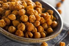 Before you bust open a bag of chips, check out this tasty recipe to satisfy your salt cravings! Roasted chickpeas make an uber-delicious, high-fiber snack.