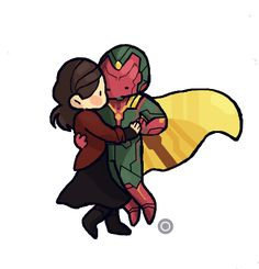 The Girl In The Byakko. Vision and Scarlet Witch