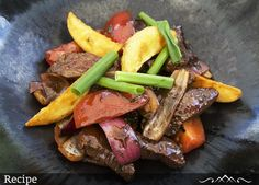 #PuraRecipe | Peruvian Lomo Saltado is part of the chifa tradition, the Chinese cuisine of Peru. This very easy dish to make combines marinated strips of sirloin, or other beef steak, with onions, tomatoes, and other ingredients. To be authentic, serve it with french fried potatoes.  Here is the recipe for you: http://acozykitchen.com/lomo-saltdado/