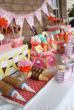 Lemonade and Ice Cream Block Party - too cute. You could divide this theme up and have 2 block parties instead of 1.