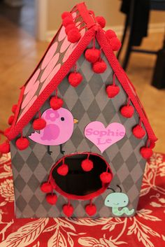 bird house valentine box