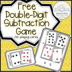 Double-Digit Subtraction Card Game – Line upon Line Learning