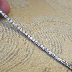 "*flash sale* 18k Swarovski tennis bracelet NWOT Brand new never used. Round Swarovski Crystal elements 18k white gold finish retail value $250 3mm crystal in 7.5"" bracelet with tongue clasp.   Reasonable offers welcome. Swarovski Jewelry Bracelets"