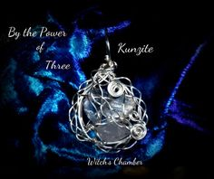 The Power of 3 Kunzite Wire Wrapped Pendant by WitchsChamber