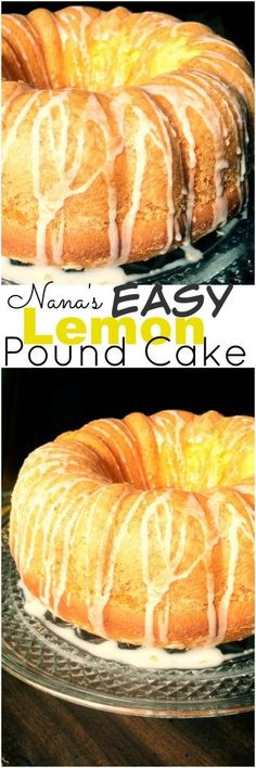 Nana's Easy Lemon Pound Cake is one of our favorite easy lemon desserts.  With only 5 simple ingredients, you can whip this up in no time.  My kids love making this one!  Perfect for Spring & Summer!