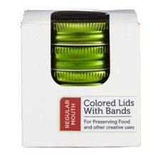 Regular Mouth Coloured Canning Lids with Bands are perfect for preserving food and other creative uses | Canadian Tire