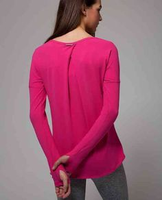 Ivivva Mindful Moment LS, Jeweled Magenta, size 14