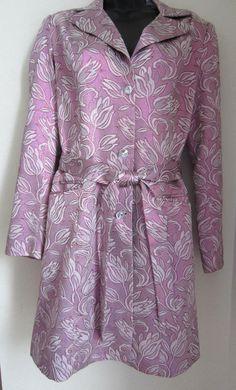 Marciano Jacket M Medium Purple Metallic Sparkle Button Front  #Marciano #Long