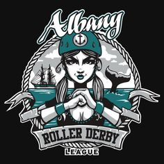 Albany Roller Derby League shirts by ARDL