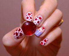 Mod Hearts Nails Art Designs