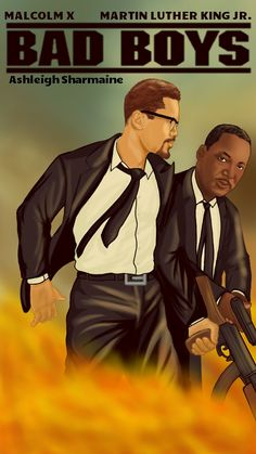 Martin Luther King jr & Malcolm X Dope Cartoon Art, Dope Cartoons, Black Cartoon, Black Love Art, Black Girl Art, Ps Wallpaper, African American Artwork, American Artists, Arte Hip Hop