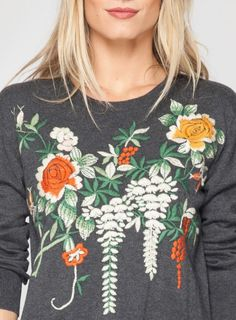 embroidered sweater.. DIY project