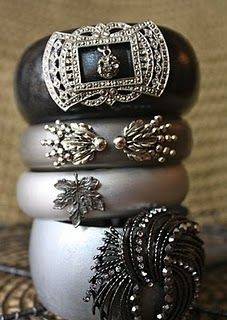 upcycled vintage jewelry bangles