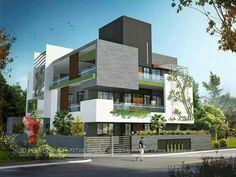 House Elevation3D EXTERIOR VIEW MODERN HOUSE JPG  800 600    Schools   Pinterest  . Modern Houses Interior And Exterior. Home Design Ideas
