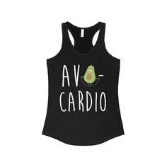 Avocardio Women Racerback Tank Avocado Shirt Avo-Cardio