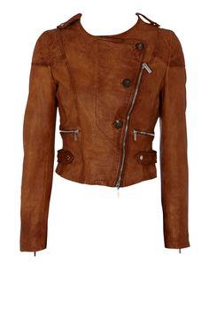 Karen Millen Leather Button Jacket.