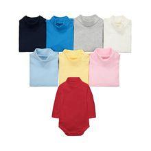 3a7bfba23e7 100% хлопок длинные рукава водолазка боди для новорожденных комбинезон  мальчики девочек трико дети в целом