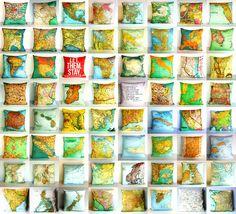 Cool map pillows!